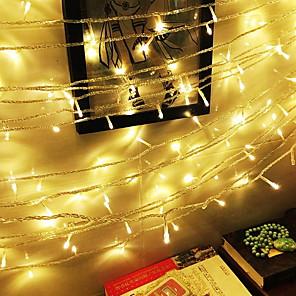 cheap LED String Lights-20m String Lights 200 LEDs 1 set Warm White Decorative 220-240 V