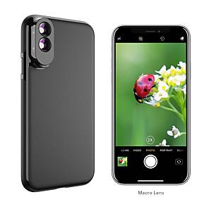cheap Smartphone Camera Lenses-Mobile Phone Lens Macro Lens Glasses / ABS+PC 10X Macro 10 mm 0.01 m 80 ° Lens with Case