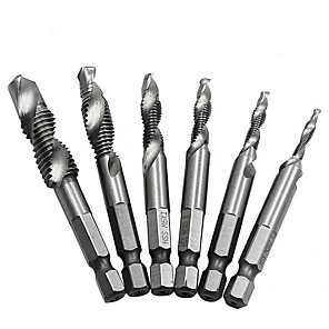 cheap Power Tools Accessories-High Speed Steel 4341 multi-function integrated screw machine tap with tapping and chamfering a cable tapping