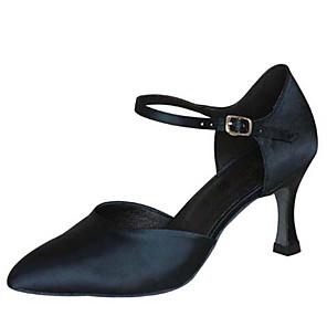 cheap Ballroom Shoes & Modern Dance Shoes-Women's Modern Shoes / Ballroom Shoes PU Elastic Band Heel Paillette Flared Heel Customizable Dance Shoes Black / Brown / Khaki / Performance / Practice