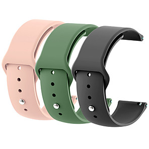 cheap Smartwatch Bands-18mm 20mm 22mm 3pcs Silicone Watch Band Gear S2 Strap for Samsung Gear S3 Classic Frontier Galaxy Watch Correa Amazfit Bip Bracelet
