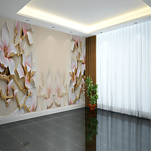 cheap Wallpaper-Wallpaper / Mural / Wall Cloth Canvas Wall Covering - Adhesive required Floral / Pattern / 3D