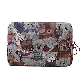 cheap Sleeves,Cases & Covers-Laptop Sleeve Polyester Cotton Blend Bear Business Office Unisex Shock Proof for Surface/Macbook/HP/Dell/Samsung/Sony Etc