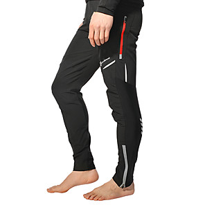 cheap Bikes-ROCKBROS Men's Cycling Pants Bike Pants / Trousers Bottoms Reflective Windproof Breathable Sports Polyester Spandex Coolmax® Black / White Mountain Bike MTB Road Bike Cycling Clothing Apparel Bike