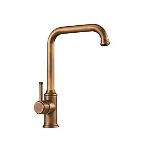 cheap Shower Faucets-Vintage Kitchen faucet - Single Handle One Hole Antique Copper Tall / ­High Arc Other Antique Kitchen Taps