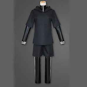 cheap Anime Costumes-Inspired by Tokyo Ghoul Ken Kaneki Anime Cosplay Costumes Japanese Cosplay Suits Solid Colored Long Sleeve Coat Top Pants For Men's / Shorts / Shorts