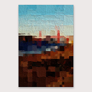 cheap Famous Paintings-Oil Painting Hand Painted - Abstract Modern Stretched Canvas