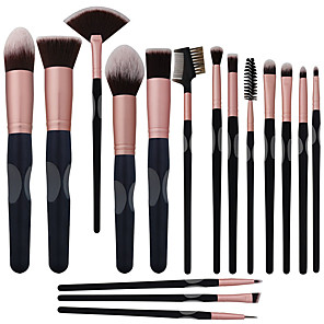 cheap Makeup Brush Sets-Professional Makeup Brushes 16pcs Full Coverage Comfy Artificial Fibre Brush Wooden / Bamboo for Makeup Brush
