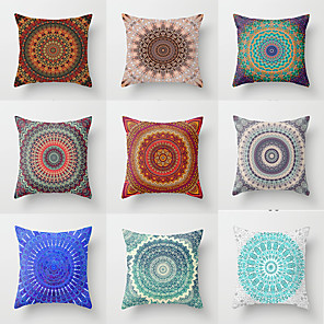 cheap Sale-1 pcs Polyester Pillow Cover, Special Design Halloween Square Traditional Classic