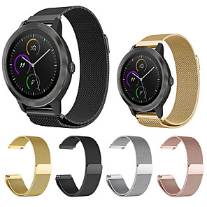 cheap Car DVD Players-Watch Band for Garmin Vivomove Vivomove HR Vivoactive 3 Milanese Loop Stainless Steel Wrist Strap Sport band  fashion elegant band
