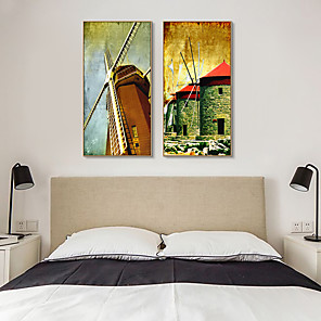 cheap Framed Arts-Framed Art Print Framed Canvas Prints - Landscape PS Oil Painting Wall Art
