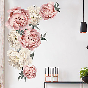 cheap Wall Stickers-Beautiful Flowers Wall Stickers - Plane Wall Stickers Transportation / Landscape Study Room / Office / Dining Room / Kitchen