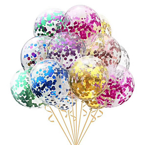 cheap Christmas Decorations-10pcs/lot Clear Balloons Gold  Foil Confetti Transparent Balloons Happy Birthday Baby Shower Wedding Party Decorations