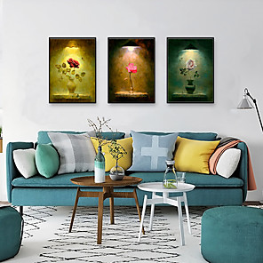 cheap Framed Arts-Framed Art Print Framed Set - Floral / Botanical PS Illustration Wall Art