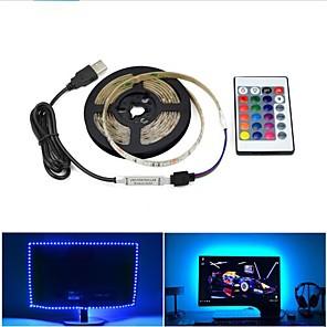 cheap LED Strip Lights-1set USB LED Light Strips Flexible Tiktok Lights 2835 SMD 8mm DC5V Flexible LED Light Tape Ribbon 1M HDTV TV Desktop Screen Background Bias Lighting