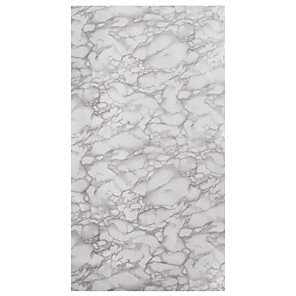 cheap Wall Stickers-Marble Decorative Wall Stickers - Table Door Furniture PVC Vinyl Film Waterproof Bathroom Self Adhesive Wallpaper Stickers for Kitchen Countertops Contact Paper