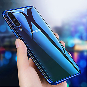 cheap Samsung Case-Case For Samsung Galaxy Galaxy A10(2019) / Galaxy A30(2019) / Galaxy A50(2019) Transparent Back Cover Solid Colored Soft TPU
