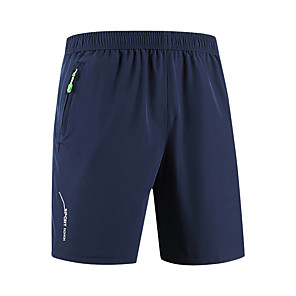 """cheap Hiking Trousers & Shorts-Men's Hiking Shorts Solid Color Summer Outdoor 10"""" Relaxed Fit Breathable Quick Dry Ultra Light (UL) Stretchy Shorts Bottoms Black Army Green Grey Dark Blue Camping / Hiking Hunting Fishing M L XL"""