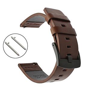 cheap Smartwatch Bands-Watch Band for Fenix Chronos Garmin Sport Band Genuine Leather Wrist Strap