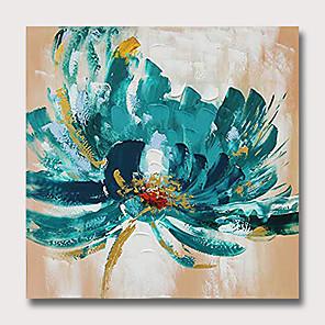 hesapli Yağlı Boyalar-Hang-Boyalı Yağlıboya Resim El-Boyalı - Soyut Çiçek / Botanik Klasik Modern Iç çerçeve olmadan