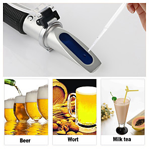 cheap Testers & Detectors-rz refractometer beer brix wort sugar alcohol 0~30%1.000~1.120 sg specific gravity handheld tool hydrometer rz120 tool