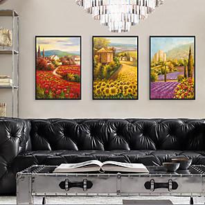 cheap Framed Arts-Framed Art Print Framed Set - Landscape Floral / Botanical PS Illustration Wall Art