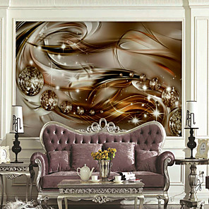 cheap Wallpaper-Wallpaper / Mural / Wall Cloth Canvas Wall Covering - Adhesive required Pattern / 3D / Metallic