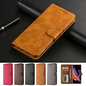 cheap Huawei Case-Case for Huawei P30 P30 Pro Flip Card Holder Full Body Cases Solid Colored Soft PU Leather P30 Lite P20 P20 Pro P20 Lite