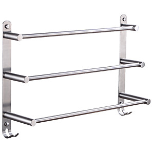 cheap Bathroom Gadgets-Towel Bar Racks Bathroom Holder Multilayer Modern Stainless Steel 1pc - Bathroom / Hotel bath 3-towel bar Wall Mounted