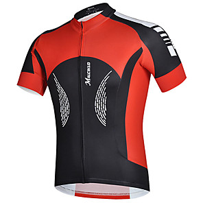 cheap Cycling Jerseys-cheji® Men's Short Sleeve Cycling Jersey Lycra Black / Red Green / Black Bike Jersey Top Mountain Bike MTB Road Bike Cycling Quick Dry Sports Clothing Apparel