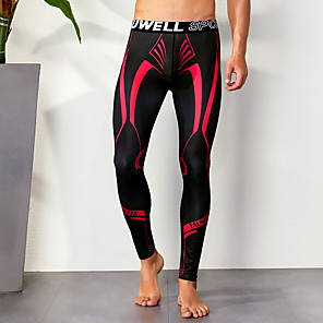cheap Running & Jogging Clothing-TAUWELL Men's Running Tights Leggings Compression Pants Athletic Compression Clothing Tights Leggings Winter Fitness Gym Workout Running Breathable Quick Dry Soft Sport Yellow Light Red Blue