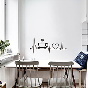 cheap Wall Stickers-Creative Coffee Cup Wall Stickers - Plane Wall Stickers Transportation / Landscape Study Room / Office / Dining Room / Kitchen