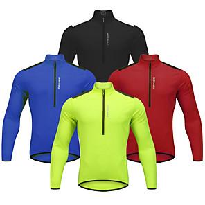 povoljno Biciklističke majice-WOSAWE Muškarci Dugih rukava Biciklistička majica Zima Runo Crvena Zelen Plava Bicikl Biciklistička majica Brdski biciklizam biciklom na cesti Reflektirajuće trake Povratak džep Sportski Odjeća
