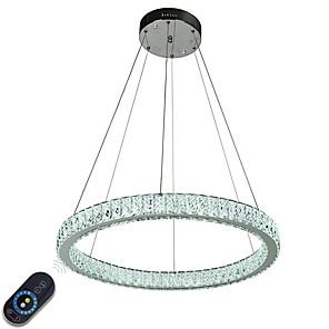 cheap Lolita Dresses-1-Light 50 cm Crystal / Adjustable / Dimmable Chandelier Metal Circle Electroplated Chic & Modern 110-120V / 220-240V