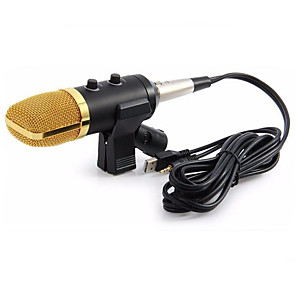 cheap Microphones-Wired Microphone USB Condenser Sound Recording Mic with Stand for Chatting Singing Karaoke Laptop