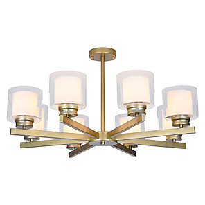 cheap Lantern Design-Ecolight 8-Light 80 cm Creative / New Design / Candle Style Chandelier Metal Glass Candle-style / Sputnik Painted Finishes Nature Inspired / Retro Vintage 110-120V / 220-240V