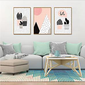 cheap Framed Arts-Framed Art Print Framed Set - Botanical Cartoon PS Illustration Wall Art