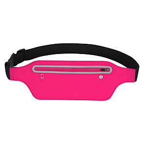 cheap Running Bags-Running Belt Fanny Pack Belt Pouch / Belt Bag for Hiking Outdoor Exercise Running Traveling Sports Bag Reflective Adjustable Waterproof Lycra® Men's Women's Running Bag Adults