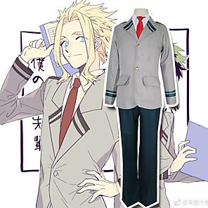 cheap Anime Costumes-Inspired by Cosplay My Hero Academia / Boku No Hero Midoriya Izuku Todoroki Shoto Anime Cosplay Costumes Japanese Cosplay Suits Patchwork Long Sleeve Coat Blouse Pants For Men's / Tie / Tie