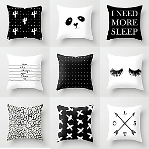 cheap Pillow Covers-1 pcs Polyester Pillow Cover, Graphic Prints Traditional Square Traditional Classic