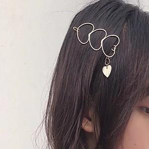 cheap Hair Jewelry-Women's For Festival Heart Alloy Silver Golden 1pc