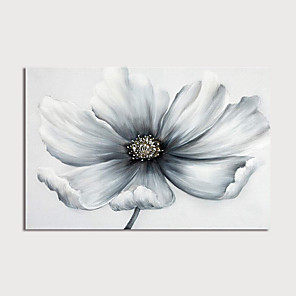 cheap Floral/Botanical Paintings-Oil Painting Hand Painted - Floral / Botanical Modern Stretched Canvas