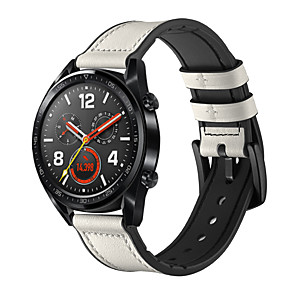 Недорогие Smartwatch Bands-Ремешок для часов для Huawei Watch GT Huawei Современная застежка силиконовый / Натуральная кожа Повязка на запястье