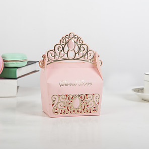 cheap Favor Holders-Cuboid Pearl Paper Favor Holder with Pattern / Print Household Sundries / Home Decroration / Cupcake Wrapper and Boxes - 50 pcs