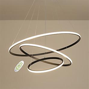 cheap Circle Design-JSGYlights 3-Light 80 cm Adjustable Chandelier Metal Silica gel Circle Painted Finishes LED Modern 110-120V 220-240V