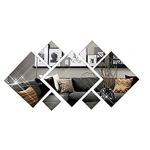 cheap Wall Stickers-3D Fashion Diamond Decorative Mirror Wall Stickers - Mirror Wall Stickers Shapes Study Room / Office / Dining Room / Kitchen