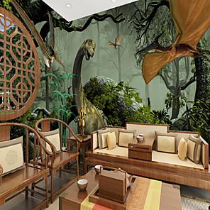 cheap Wallpaper-Dinosaur world Suitable for TV Background Wall Wallpaper Murals Living Room Cafe Restaurant Bedroom Office XXXL(448*280cm)