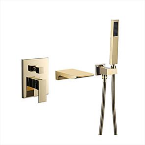 cheap Bathtub Faucets-Shower Faucet - Contemporary Multi-Ply Other Ceramic Valve Bath Shower Mixer Taps