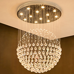 cheap Ceiling Lights-12 Bulbs 80 cm Crystal / Bulb Included / Designers Chandelier Metal Crystal Electroplated Chic & Modern 110-120V / 220-240V