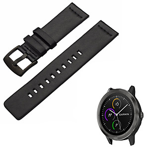 cheap Smartwatch Bands-Watch Band for Vivomove HR / Vivoactive 3 Garmin Sport Band Genuine Leather Wrist Strap
